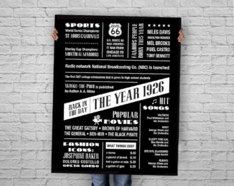90th birthday poster.