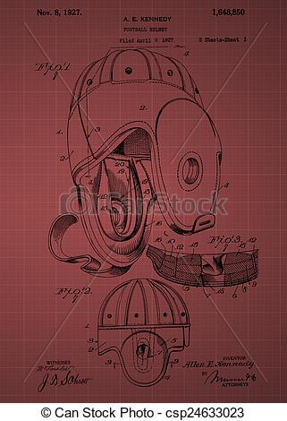 Clip Art of Football Helmet Patent From 1927.