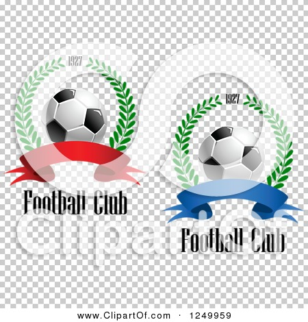 Clipart of 3d Soccer Balls, 1927 Laurel Wreaths and Ribbon Banners.