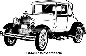 Clip Art Model T Drawing Clipart.