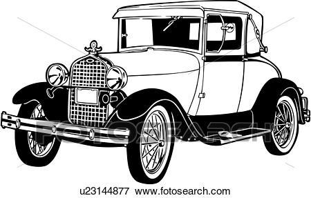 Clip Art of , 1920, 1927, 1930, 443, automobile, car, classic.