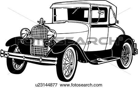 Clip Art of , 1920, 1927, 1930, 443, automobile, car, classic.