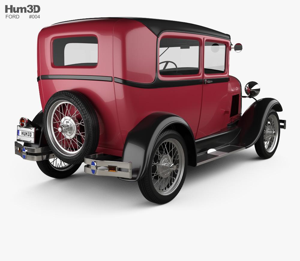 Ford Model A Tudor 1929 3D model.