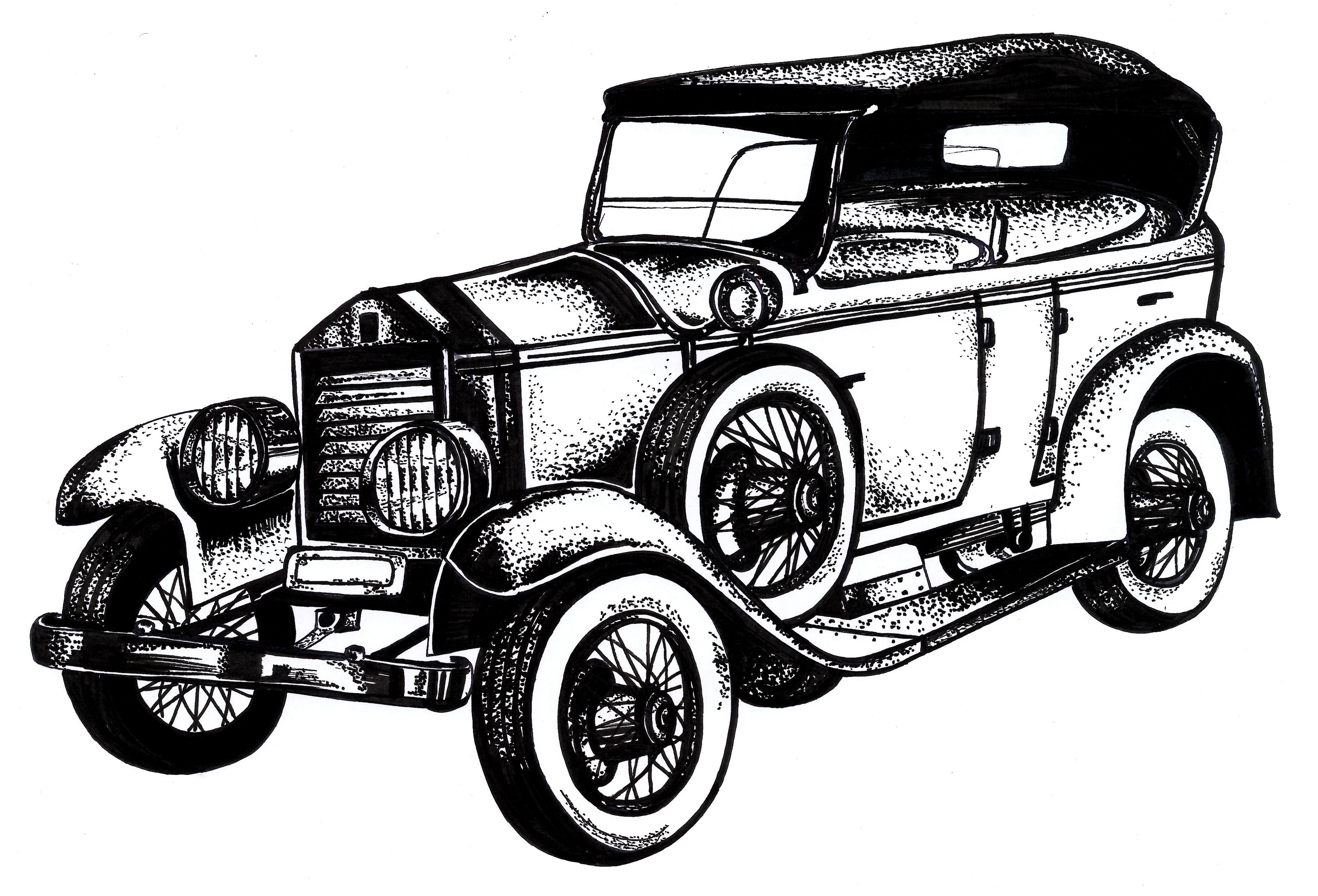 Classic Car Drawings Classic Car Clipart Oldies.