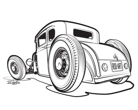 Hot rod clipart 1930 car.