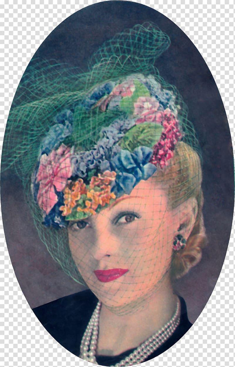 1950s Headpiece Hat 1940s 1930s, Hat transparent background.