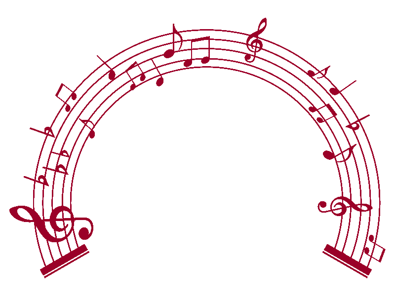 Country Music Notes Clipart.