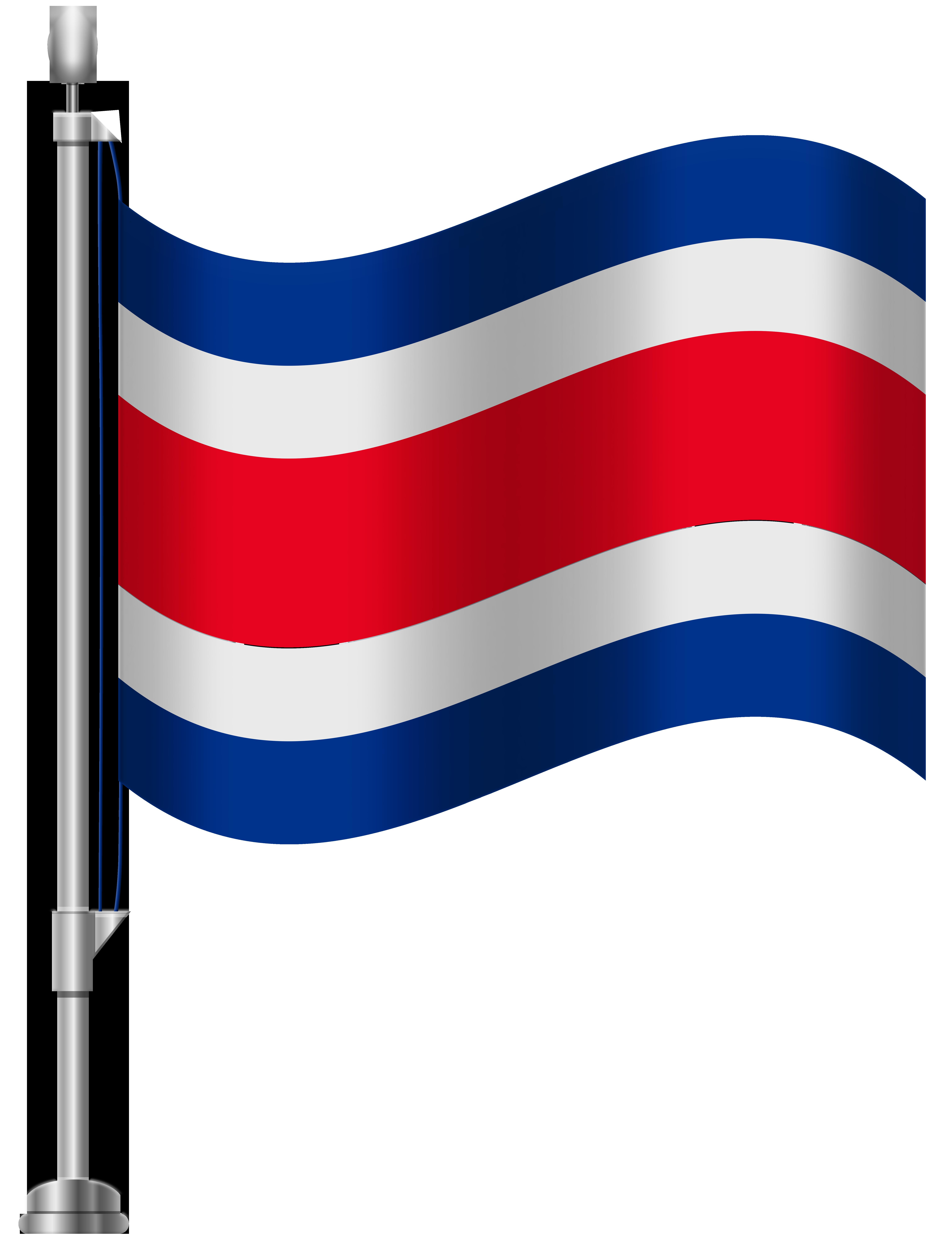 Costa Rica Flag PNG Clip Art.