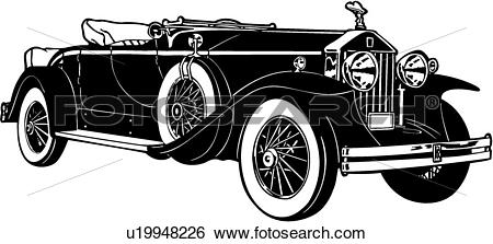 Clip Art of , 1920, 1930, 1931, automobile, car, classic, rolls.