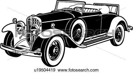 Clip Art of , 1931, automobile, car, classic, mercer, raceabout.