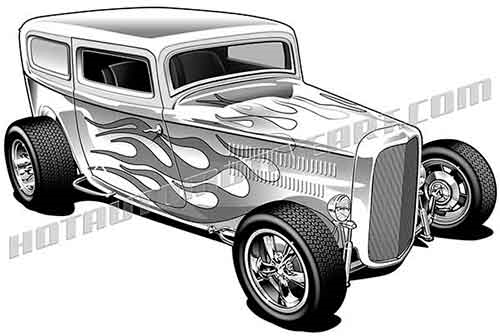 32 ford panel wagon hot rod clipart, buy two images, get one image.