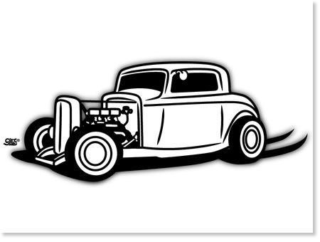 1932 Clipart on 32 ford deuce coupe
