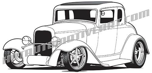 1932 Five Window Hot Rod.