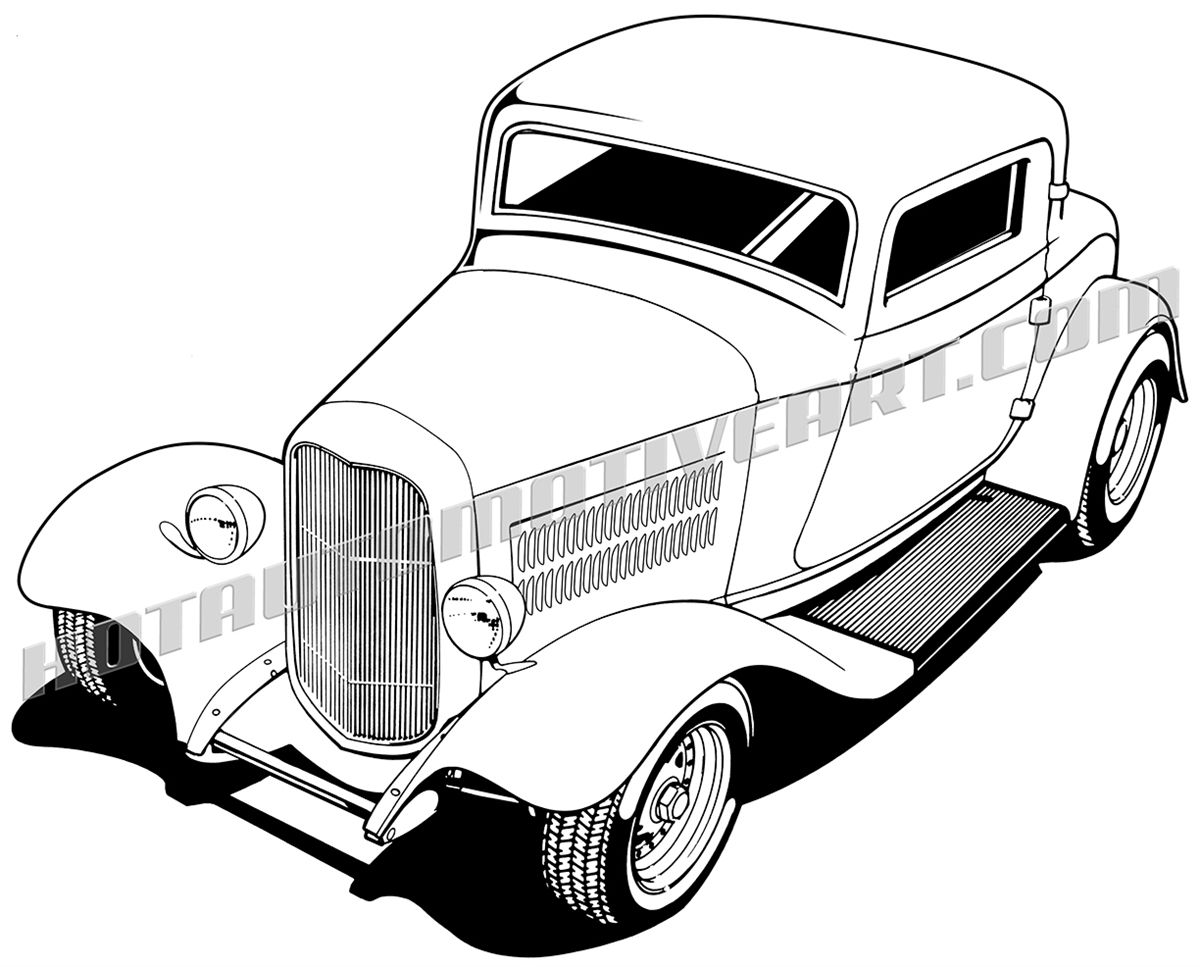 1932 Hot Rod Top 3/4 View.