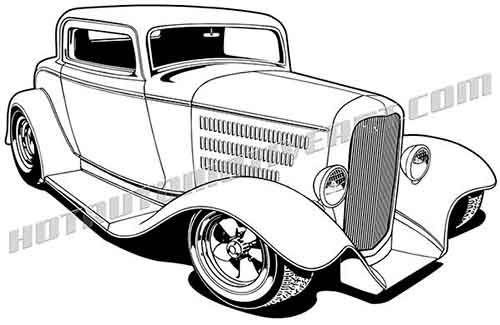 1932 Hot Rod 3 Window Coupe.