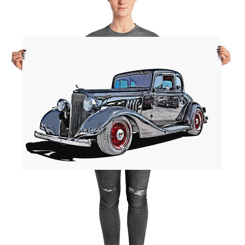 1933 Pontiac 3 Window Roadster.