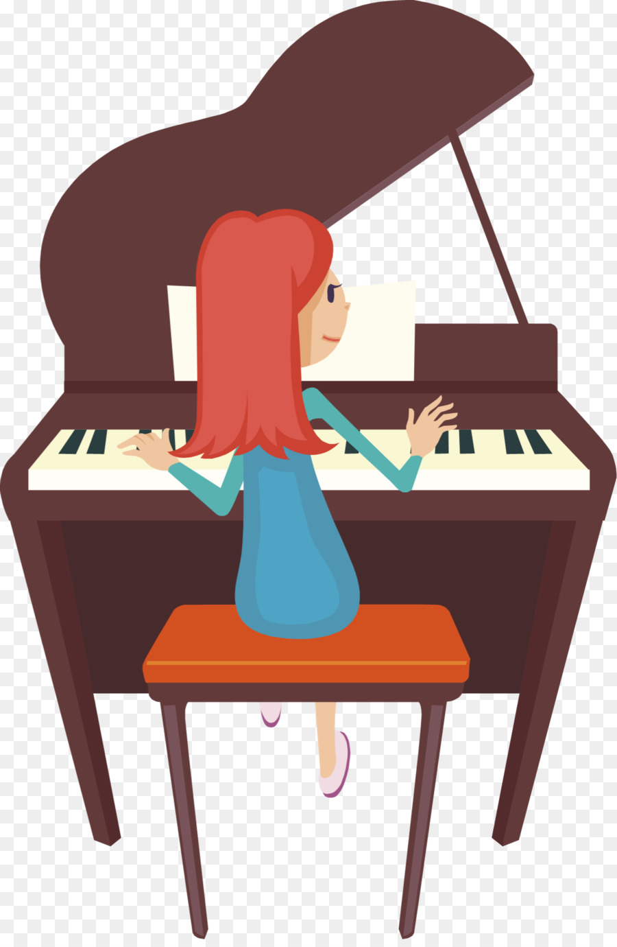 Player piano Pianist Clip art.