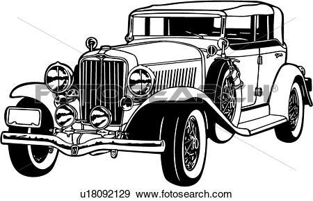 Clip Art of , 1920, 1930, 1933, auburn, automobile, car, classic.