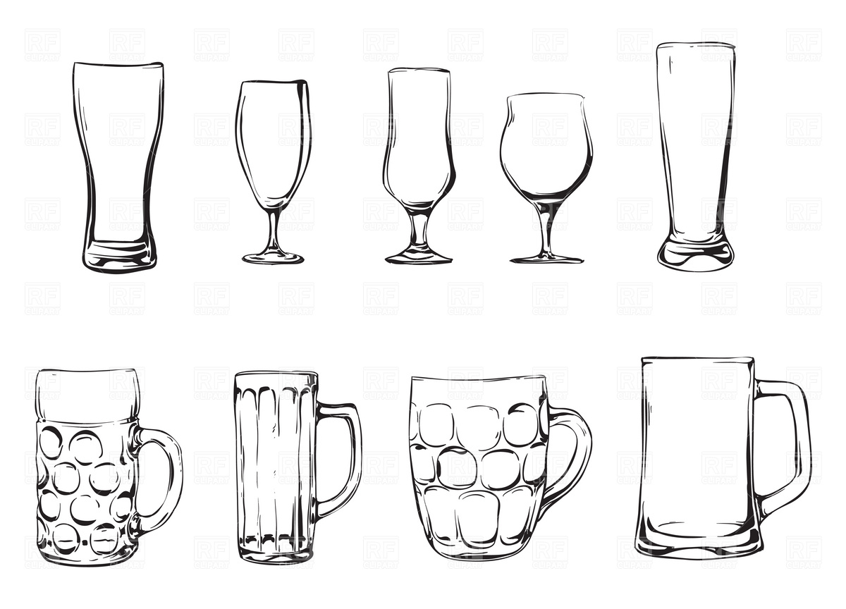 Beer glasses and mugs Vector Image #1933.