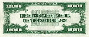 Ten Thousand Dollar Bill US 1934 Clip Art Download.