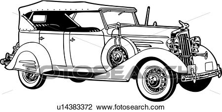 Clipart of , 1920, 1930, 1934, automobile, car, chevrolet, chevy.