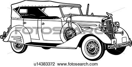 1920 car clipart