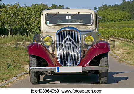 "Stock Photograph of ""Citroen Rosalie 7UA, built in 1935."