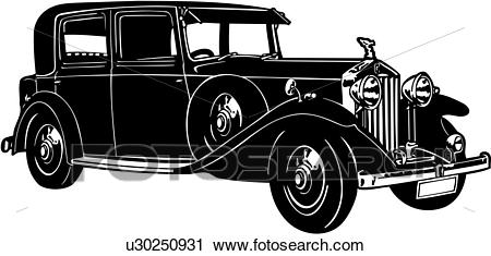 Clipart of , 1920, 1930, 1935, 20/25, automobile, car, classic.