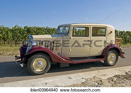 "Stock Photography of ""Citroen Rosalie 7UA, built in 1935."