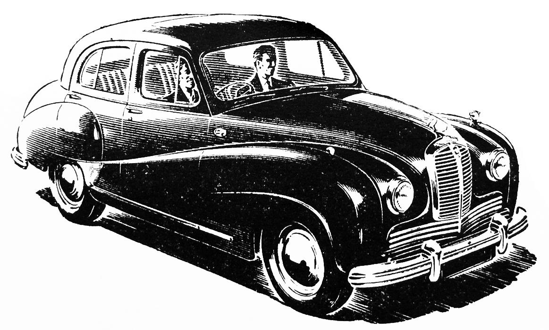 Austin car vintage clip art.