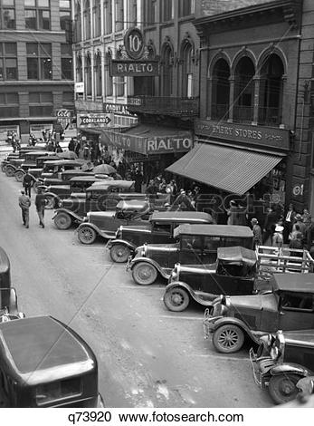 Stock Photography of 1936 Downtown Main Street Knoxville Tennessee.