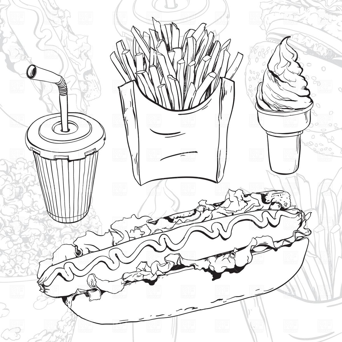 Fast food set Vector Image #1936.