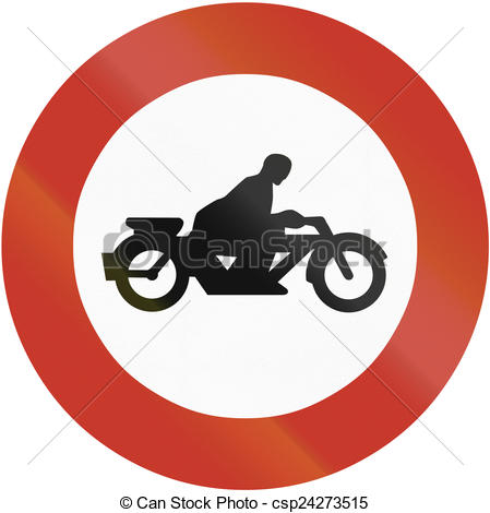 Clipart of No Motorcycles 1937.