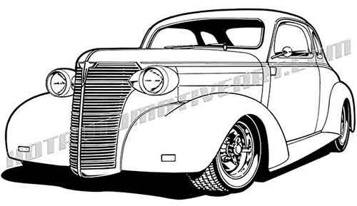 38 chevy car clipart.