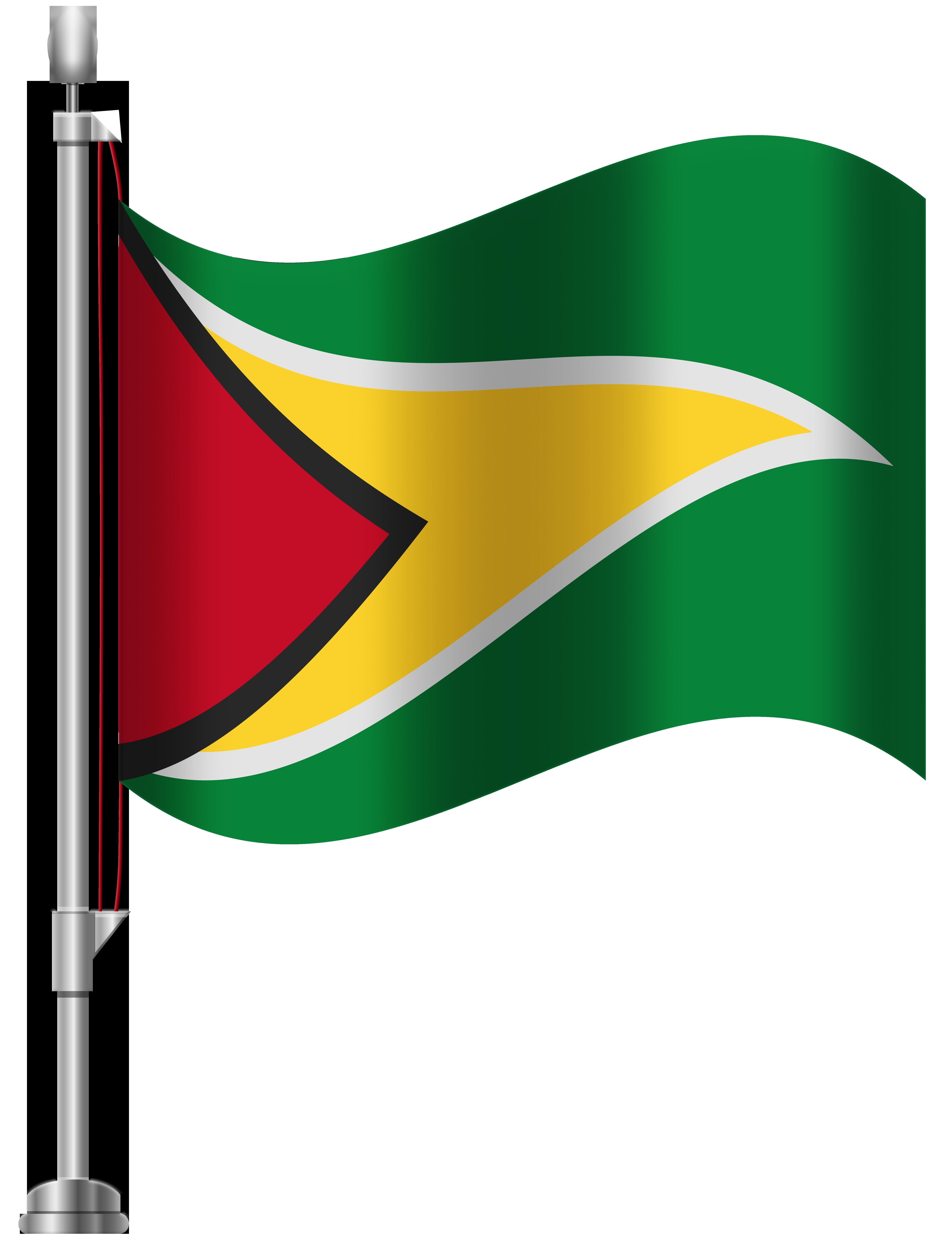Guyana Flag PNG Clip Art.