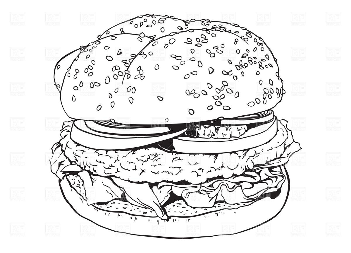 Hamburger Vector Image #1939.