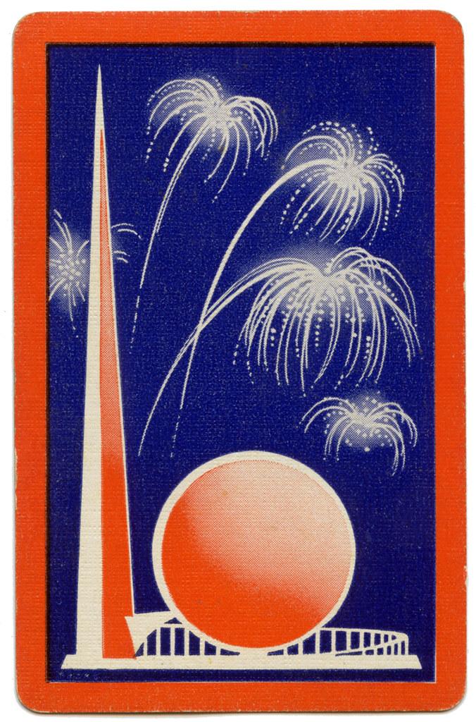 1939 New York World\'s Fair Playing Card.