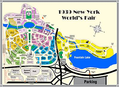Map of the 1939 New York World\'s Fair.