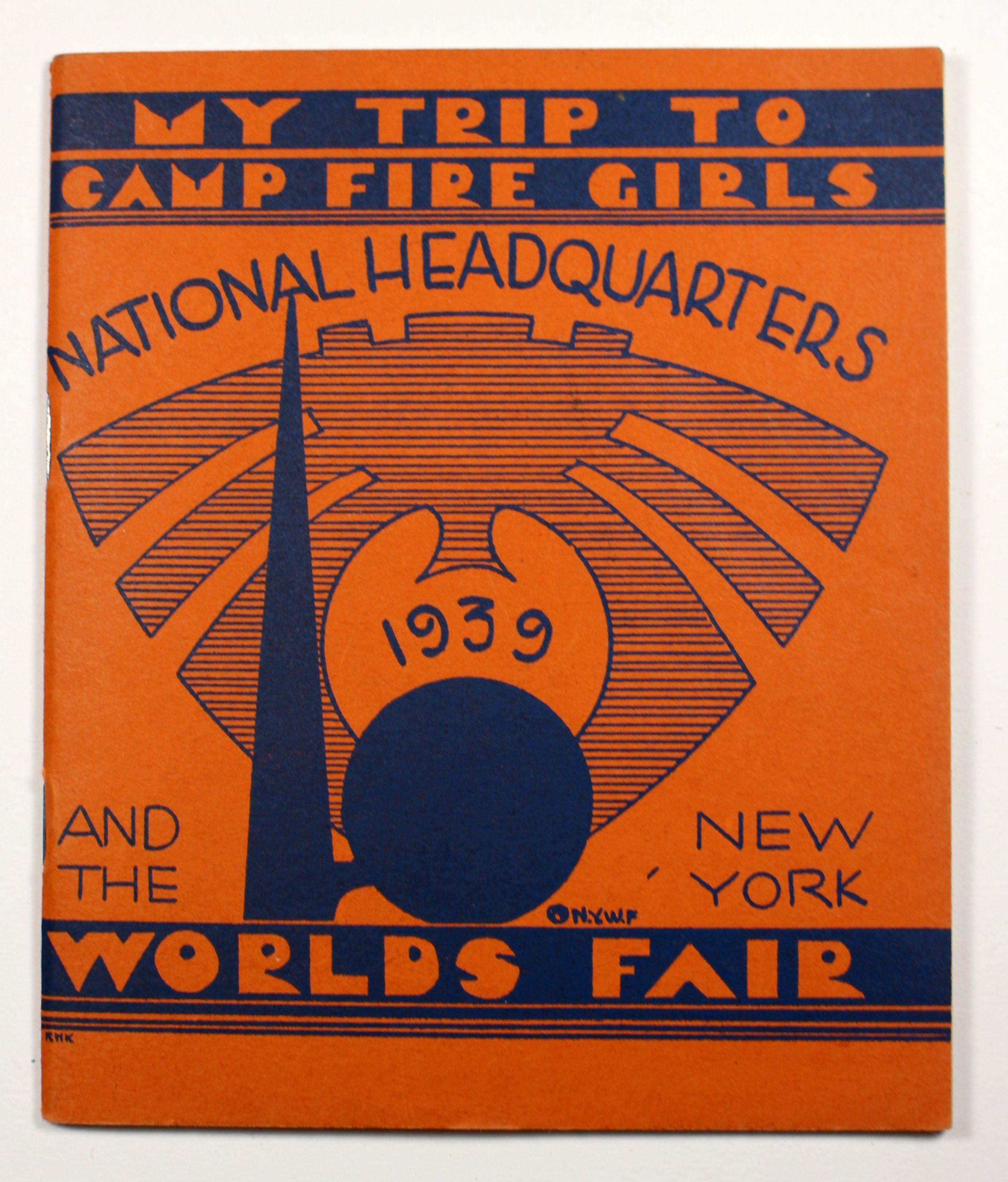 1939 New York World\'s Fair Camp Fire Girls booklet.