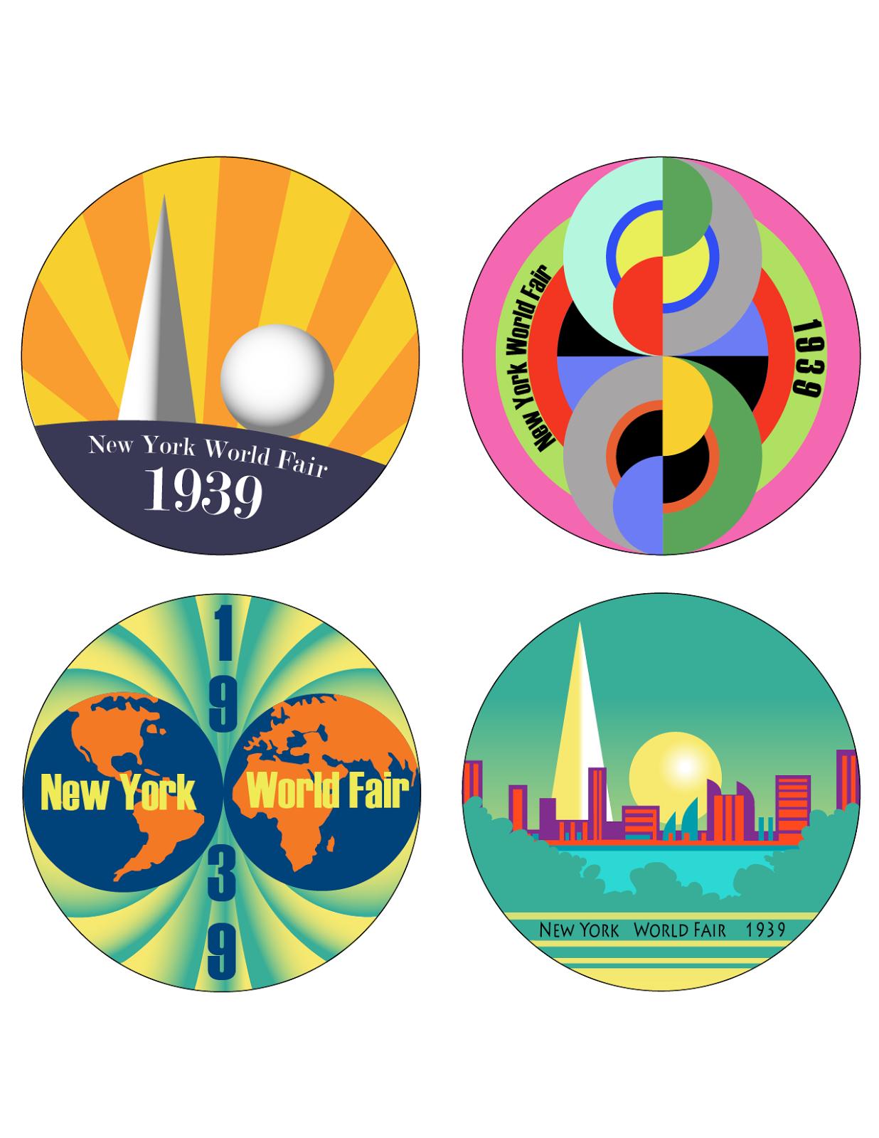 Margo\'s Graphic Art: New York World\'s Fair 1939 Coasters.