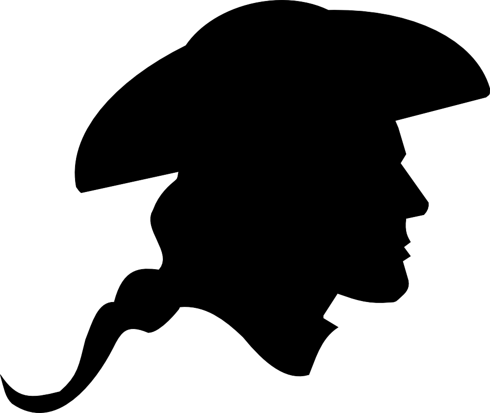 US Revolutionary War Soldier Silhouette SVG.