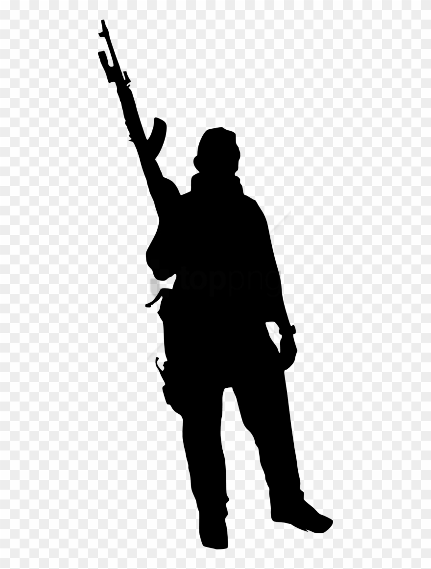 Free Png Army Silhouette Png Png Images Transparent.