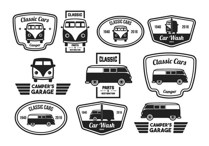Vintage Label Classic Car.