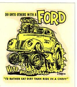 Details about ORIGINAL VINTAGE ED ROTH DECAL 1940 FORD DeLUXE COUPE HOT ROD  GASSER NHRA AHRA.
