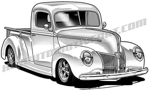 976 Pickup Truck free clipart.