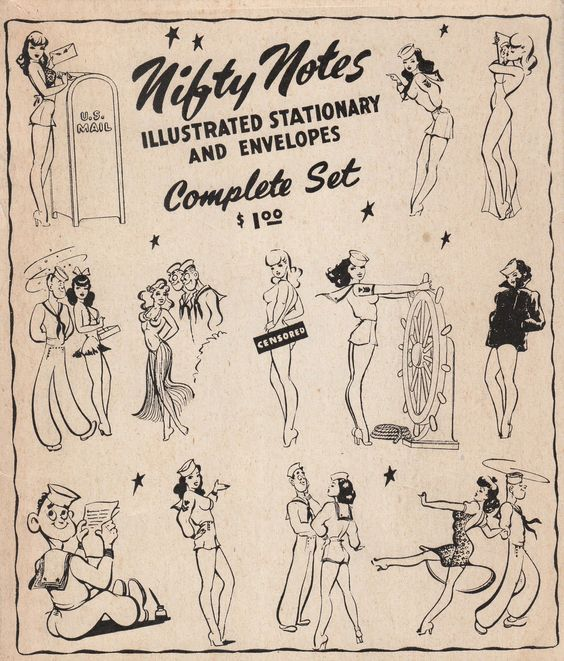 Nifty Notes ca. 1940 Love this clip art. Must have for my sailor.