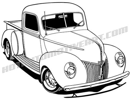 40 ford truck vector clipart, buy two images, get one image free.