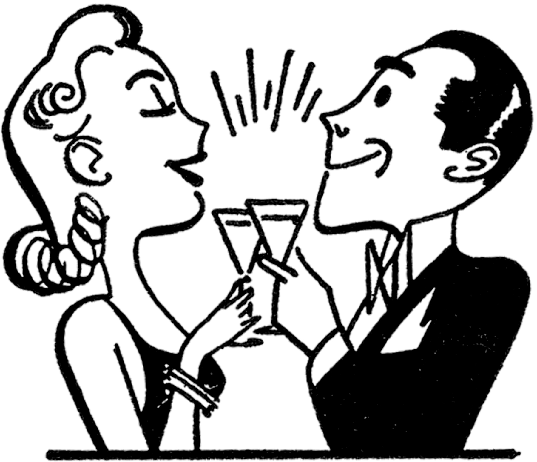 Fun Retro Happy Hour Clip Art!.