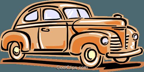1940\'s auto Royalty Free Vector Clip Art illustration.