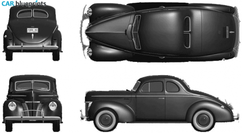 1940 Ford Coupe blueprint Car models, years, makes, and.